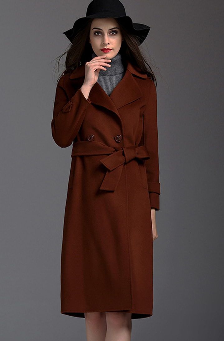 双面手缝羊绒大衣Double Side Hand Sawn Cashmere Coat